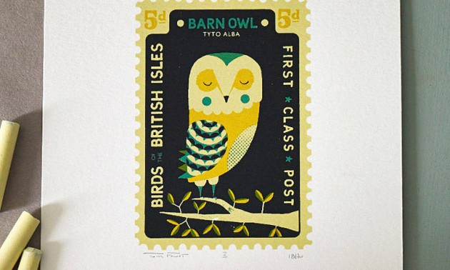 original_hand-printed-barn-owl-stamp