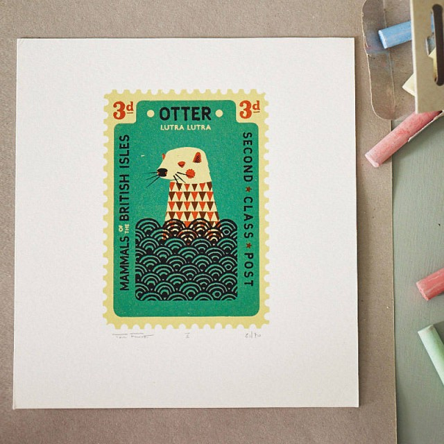 original_hand-printed-otter-stamp