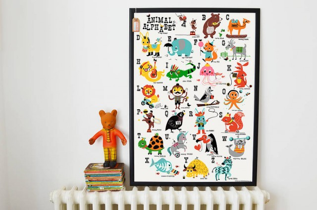original_animal-alphabet-nursery-print