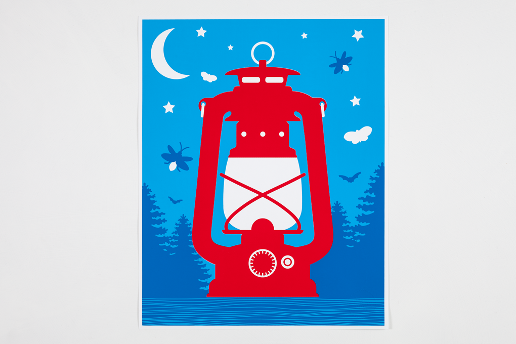 Campfire Nightlight Screen Print (Glow-In-The-Dark) - Crispin Finn