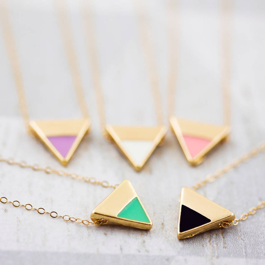 original_delicate-colourful-enamel-triangle-necklace