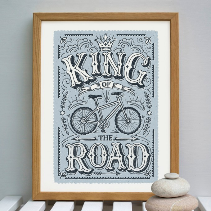 KING OF THE ROAD CYCLING PRINT – SNOWDON PRINTS