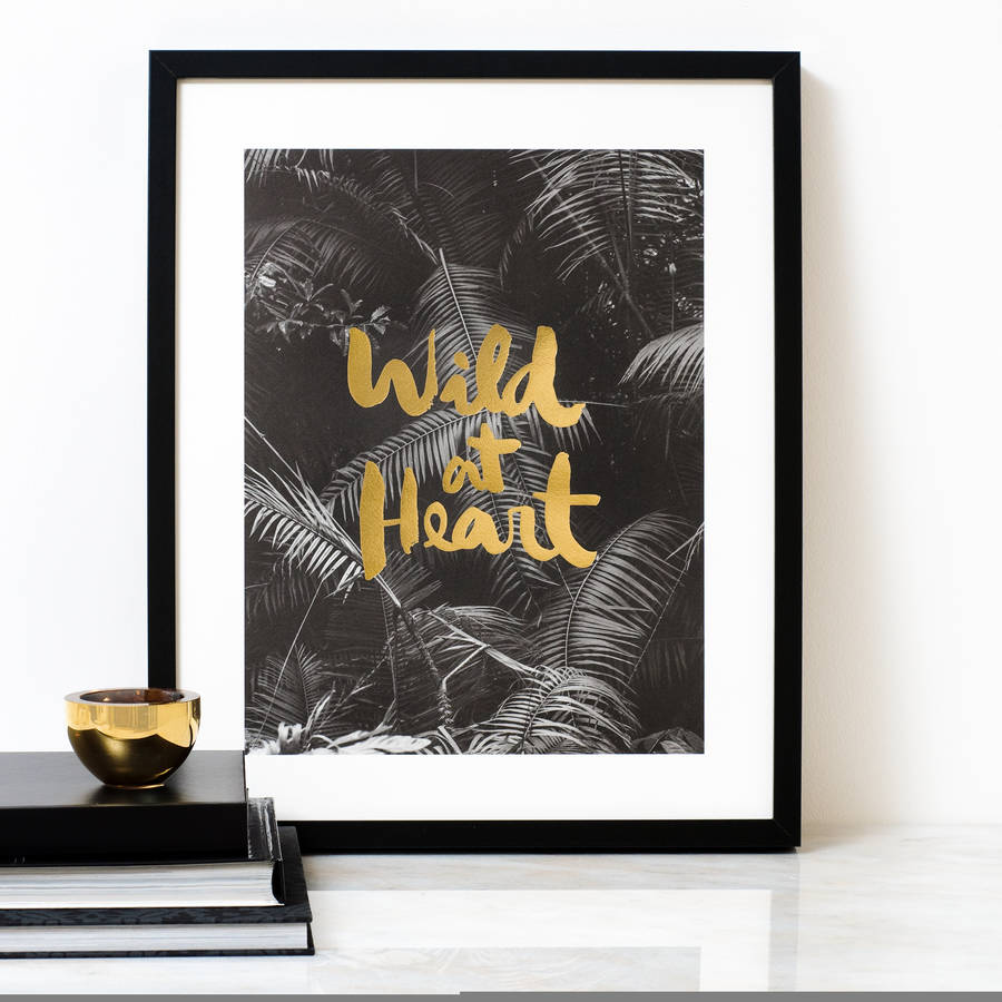 Gold foil poster from Sarah & Bendrix