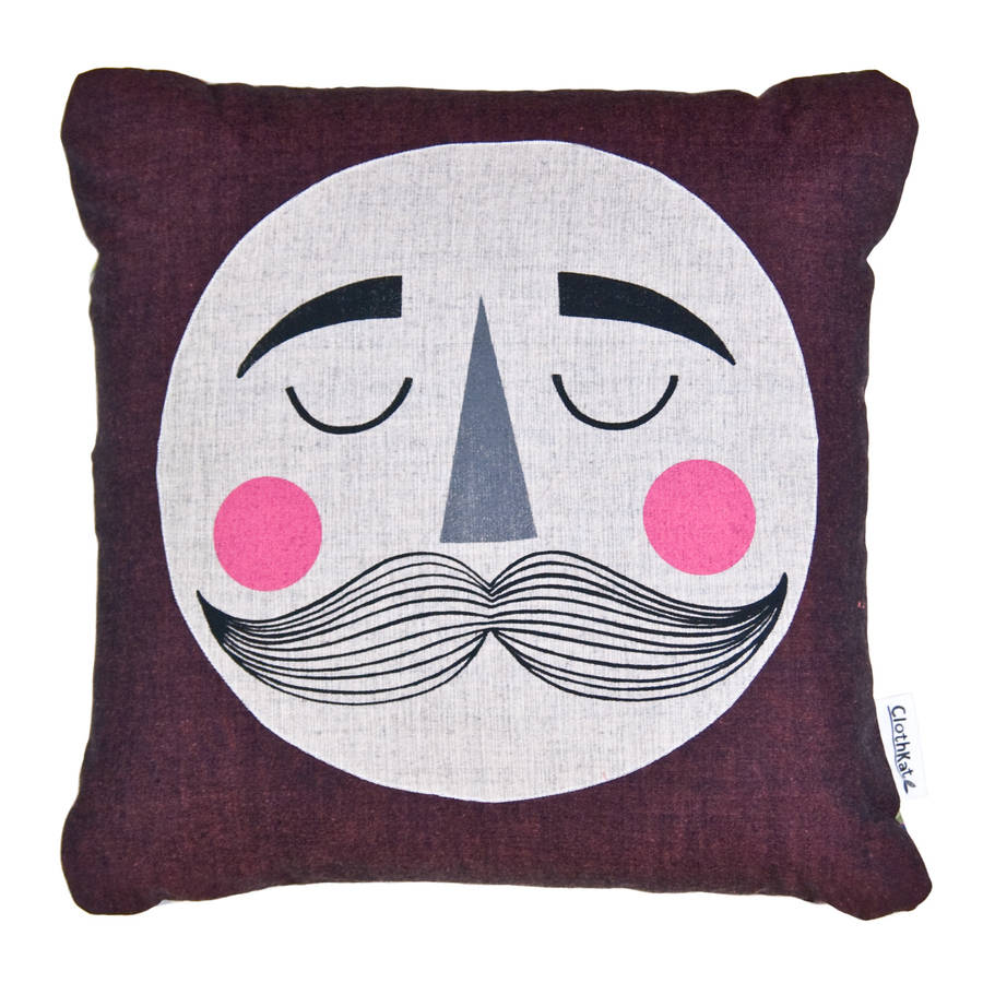 original_moon-with-moustache-cushion
