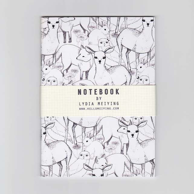Woodland, A6 Patterned Mini Notebook – Lydia Meiying