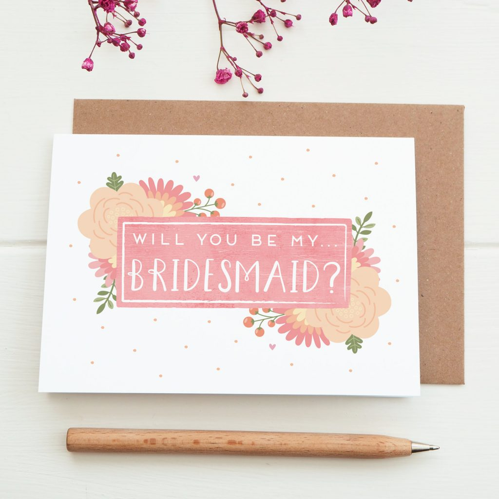 Joanna Hawker - Will you be my Bridesmaid card