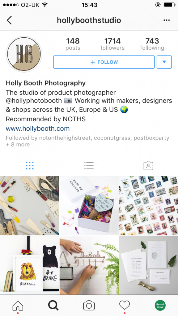 Holly Booth Photography Instagram